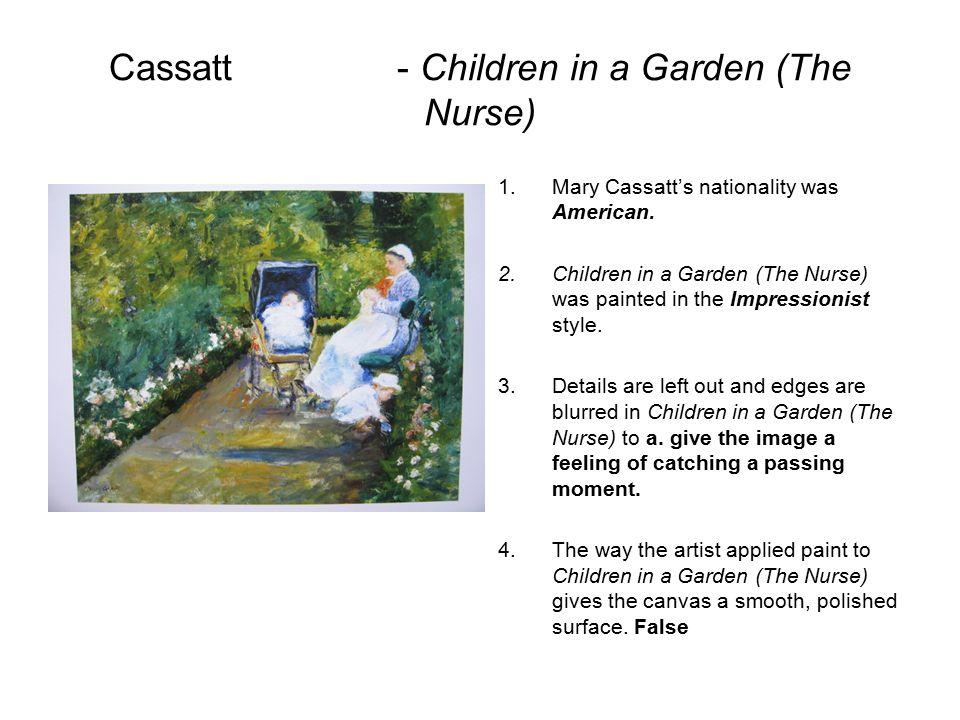 Cassatt - Children in a Garden (The Nurse)