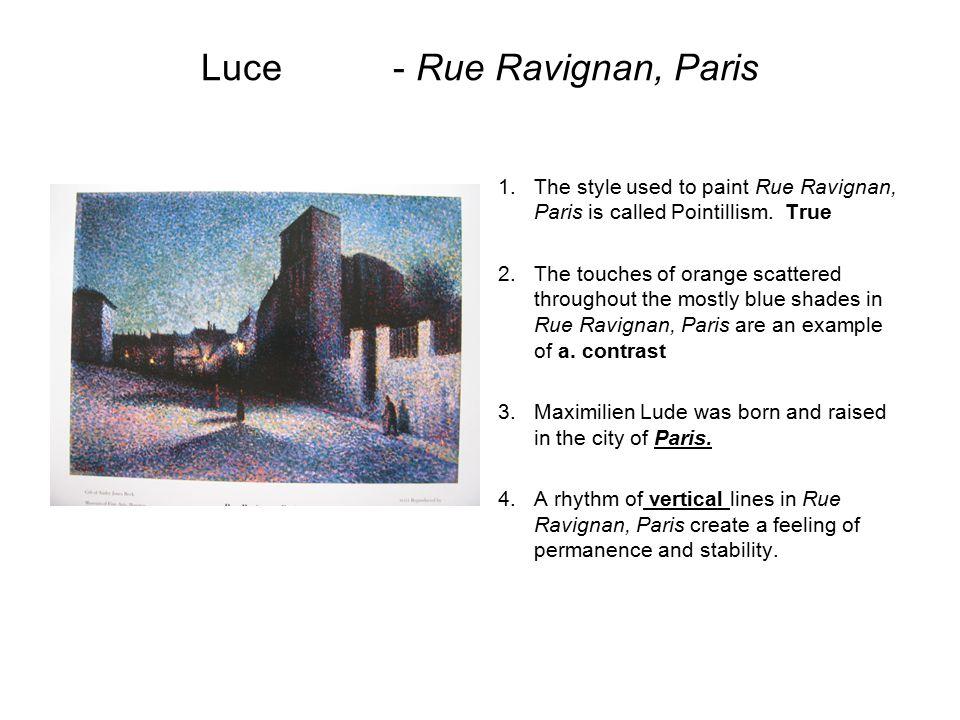 Luce - Rue Ravignan, Paris