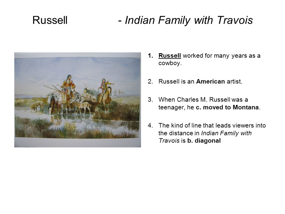 Russell - Indian Family with Travois