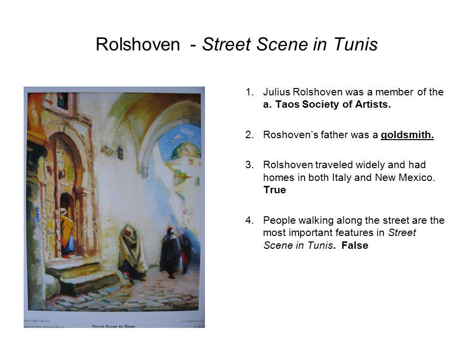 Rolshoven - Street Scene in Tunis