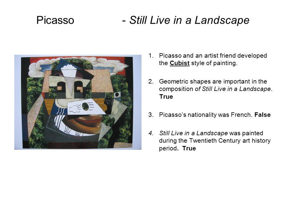 Picasso - Still Live in a Landscape