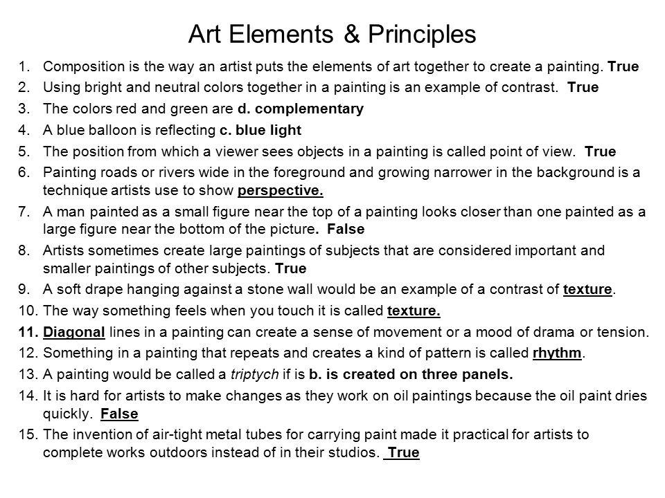 Art Elements & Principles