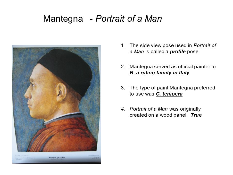 Mantegna - Portrait of a Man