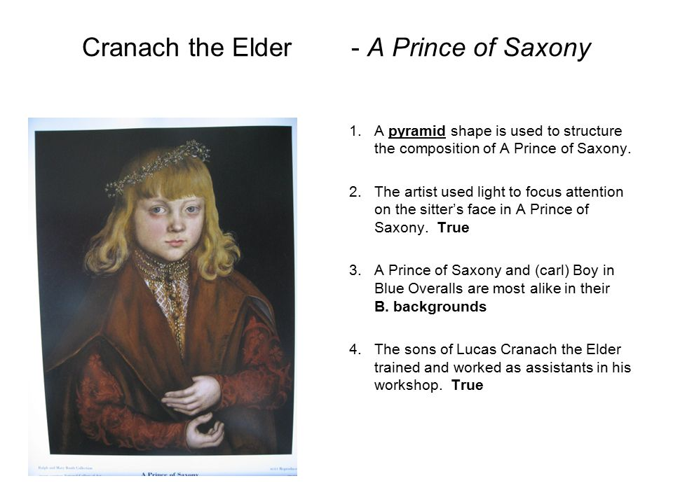 Cranach the Elder - A Prince of Saxony