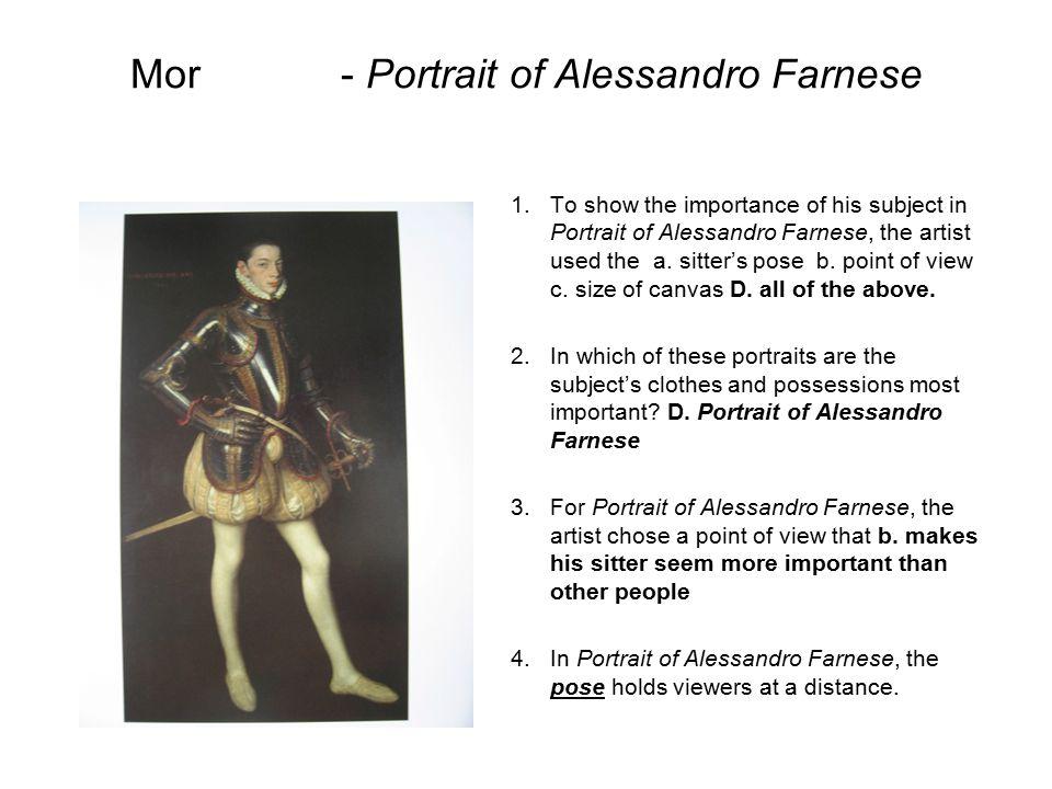 Mor - Portrait of Alessandro Farnese