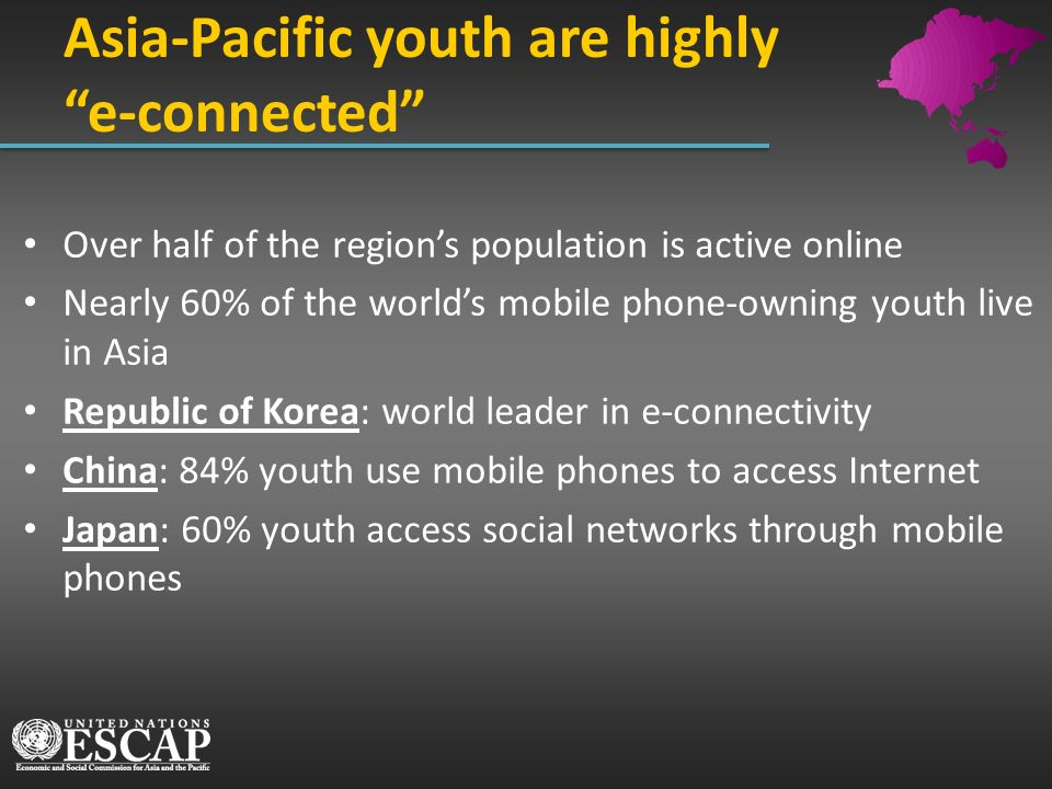 Asia-Pacific youth are highly e-connected