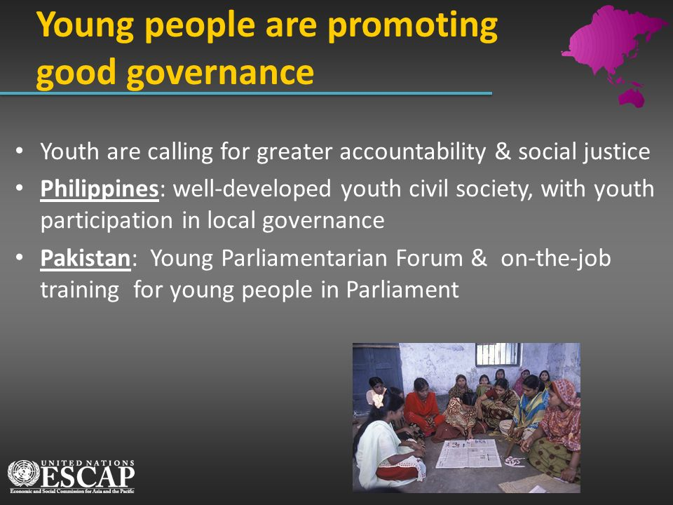 Young people are promoting good governance
