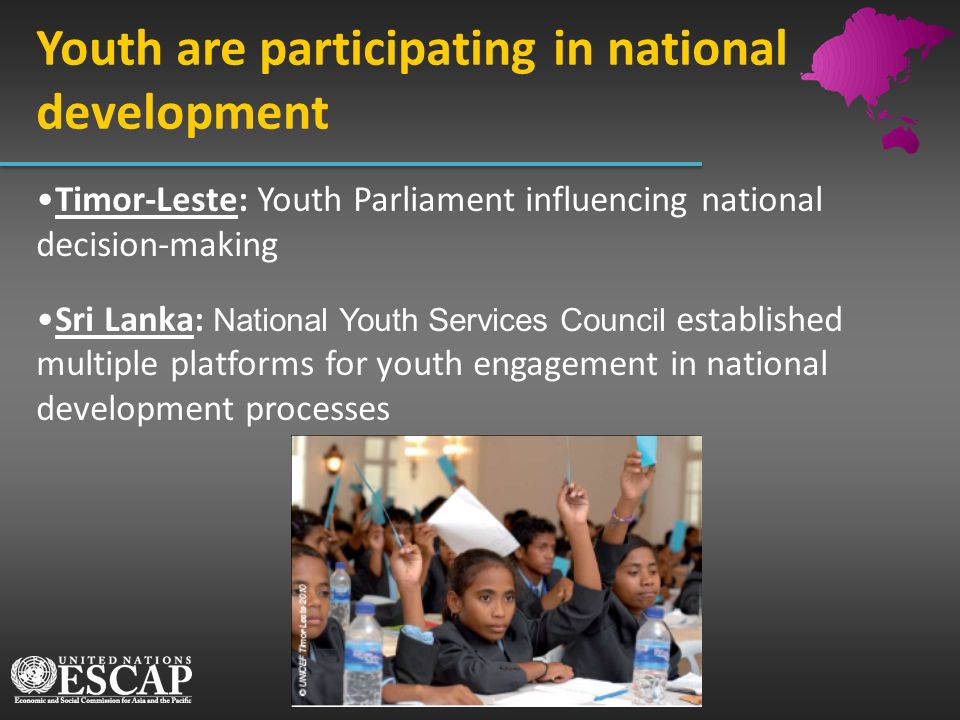 Youth are participating in national development