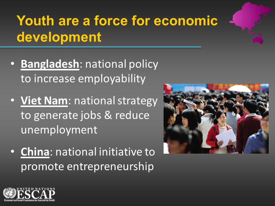 Youth are a force for economic development