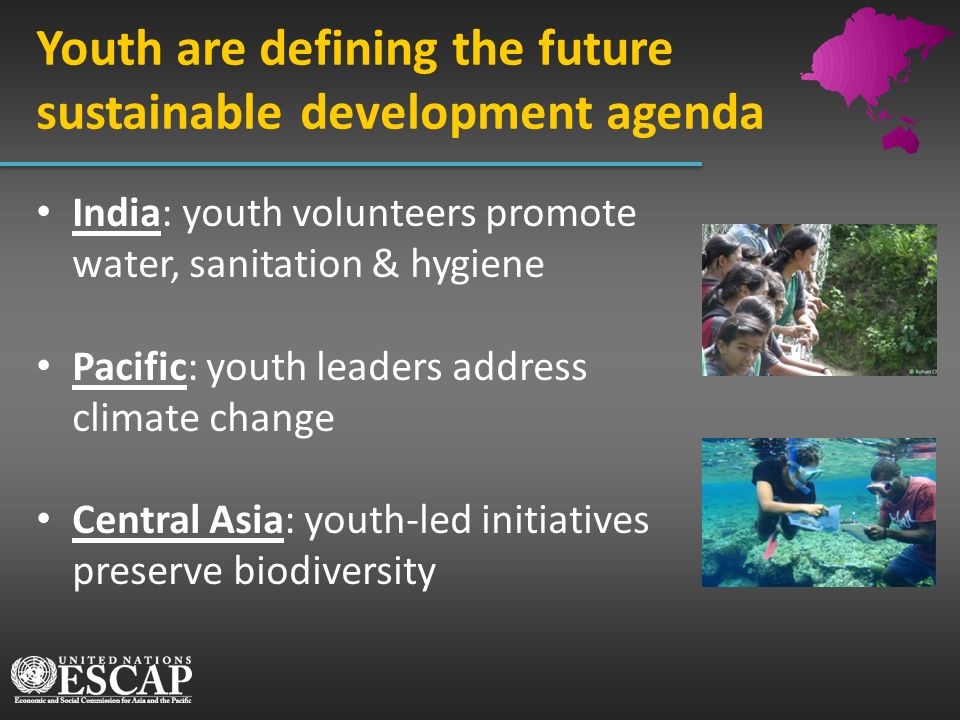 Youth are defining the future sustainable development agenda