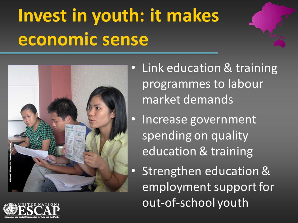 Invest in youth: it makes economic sense