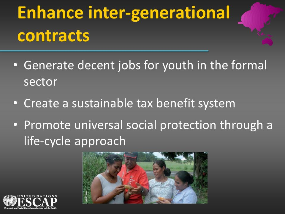 Enhance inter-generational contracts