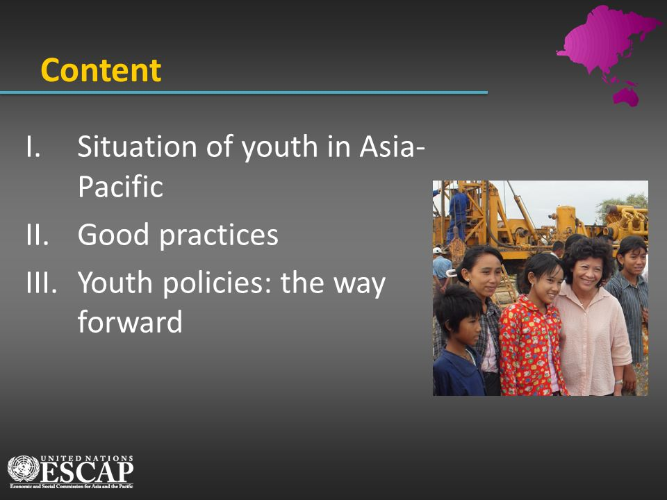 Content Situation of youth in Asia-Pacific Good practices