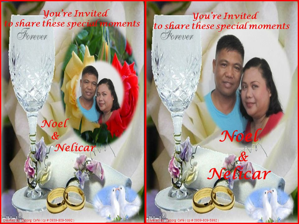 Noel & Nelicar Noel & Nelicar You're Invited You're Invited