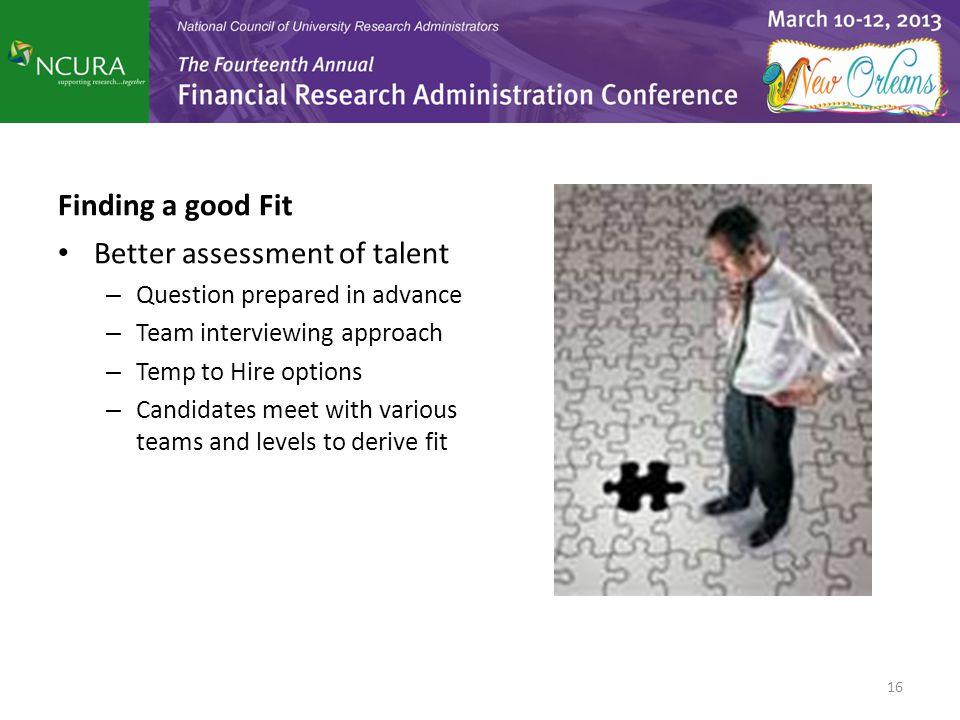 Better assessment of talent