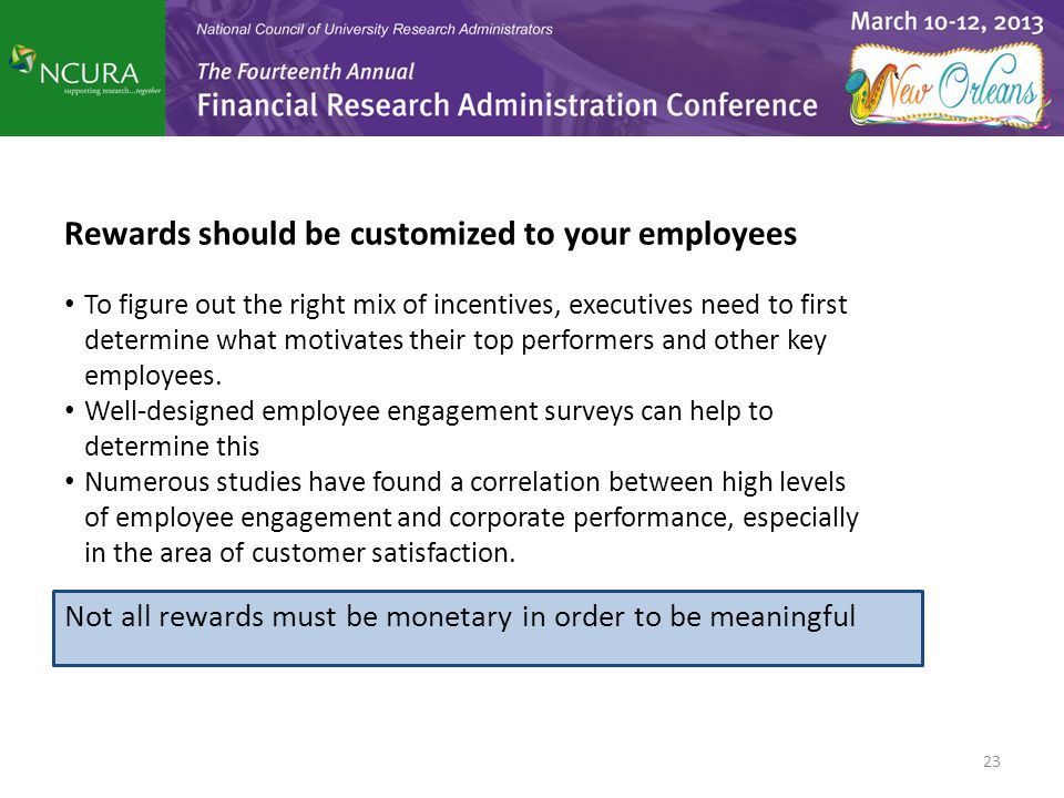Rewards should be customized to your employees