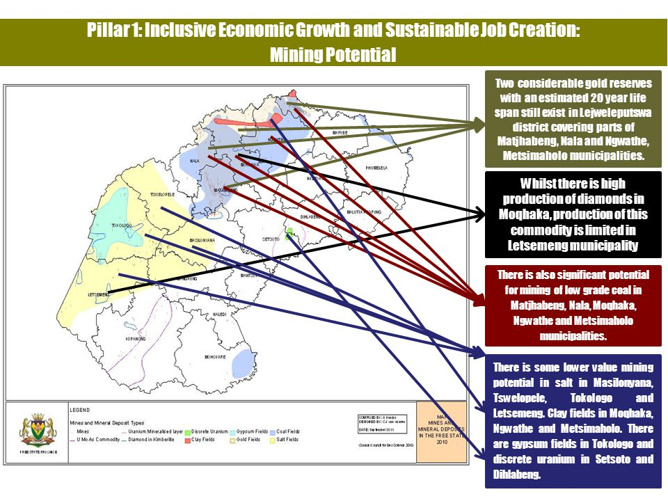 Pillar 1: Inclusive Economic Growth and Sustainable Job Creation: Mining Potential