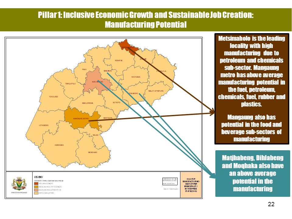 Pillar 1: Inclusive Economic Growth and Sustainable Job Creation: Manufacturing Potential