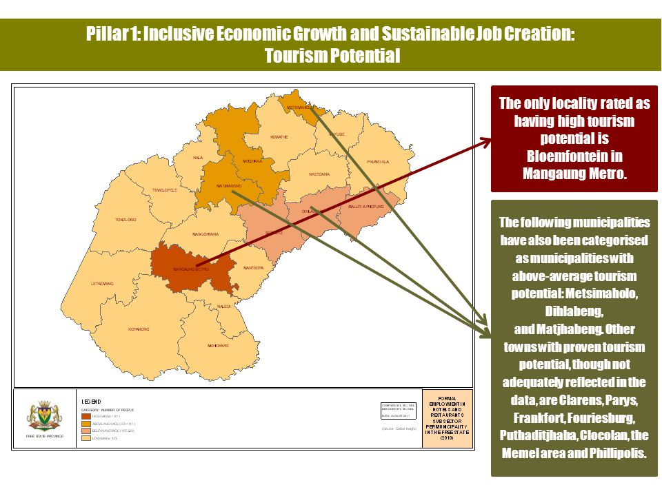 Pillar 1: Inclusive Economic Growth and Sustainable Job Creation: Tourism Potential