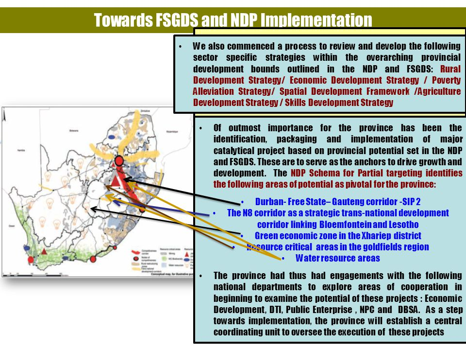 Towards FSGDS and NDP Implementation