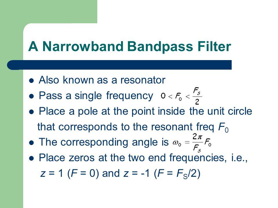 A Narrowband Bandpass Filter