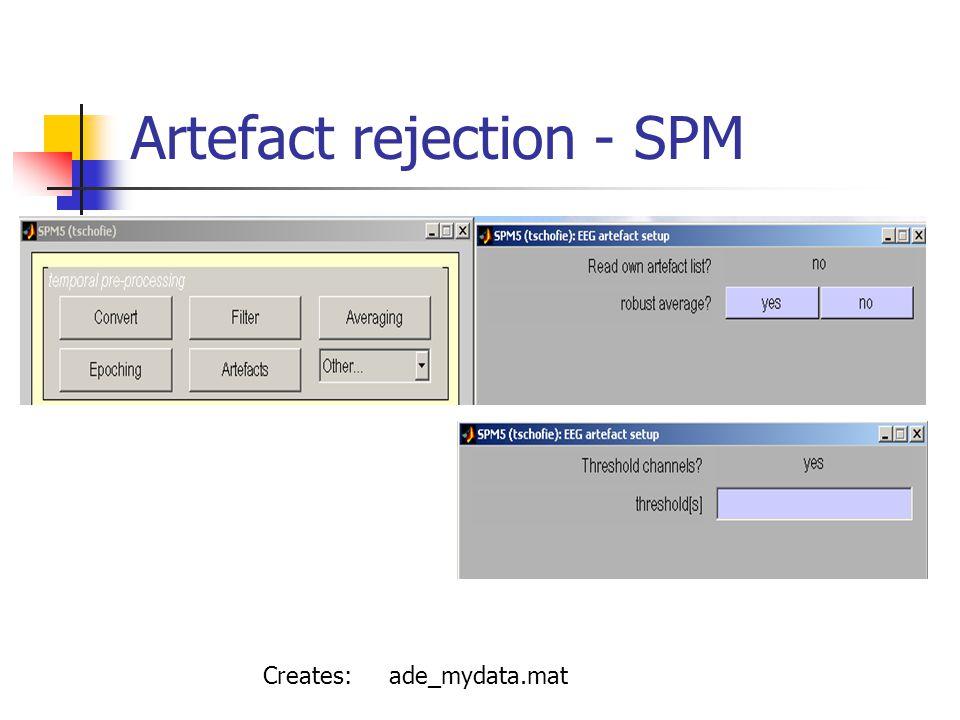 Artefact rejection - SPM