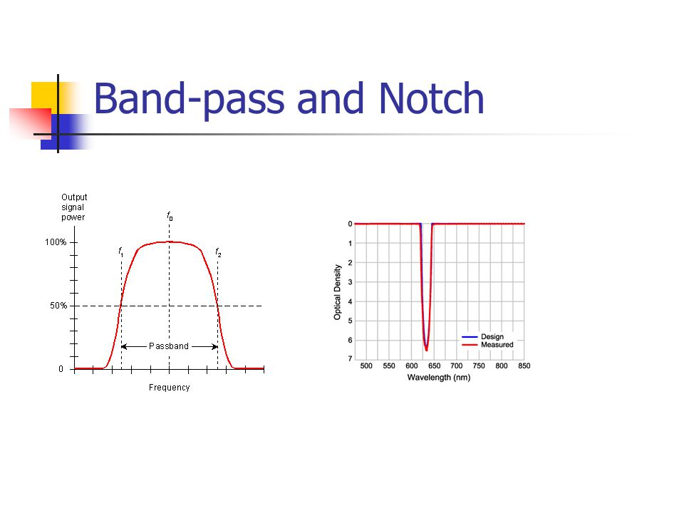 Band-pass and Notch Band pass useful for selecting a band of frequencies, e.g. if you wanted to purely examine Beta or Theta oscillations.