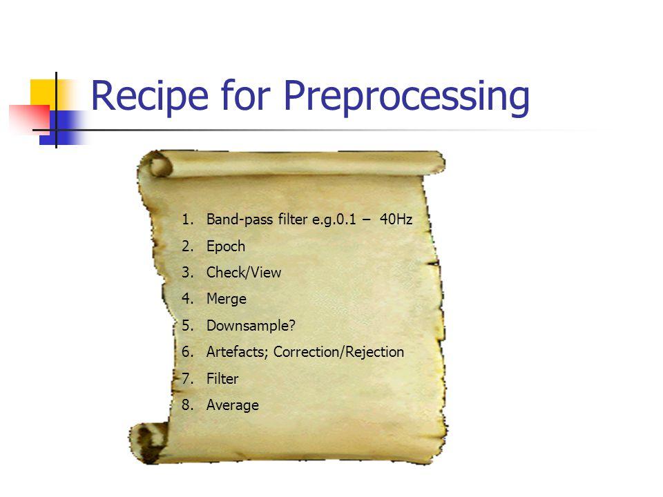 Recipe for Preprocessing