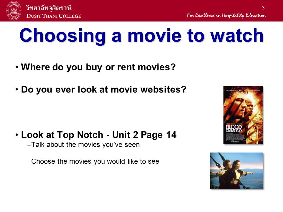 Choosing a movie to watch
