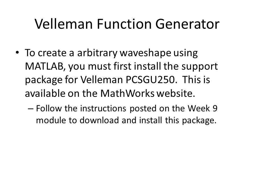 Velleman Function Generator