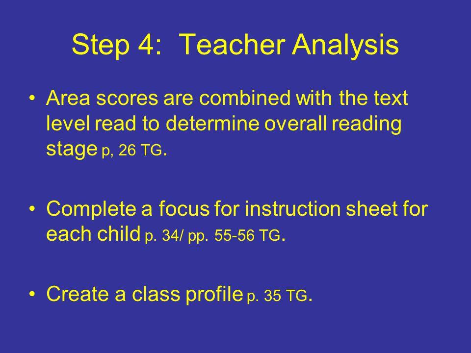 Step 4: Teacher Analysis