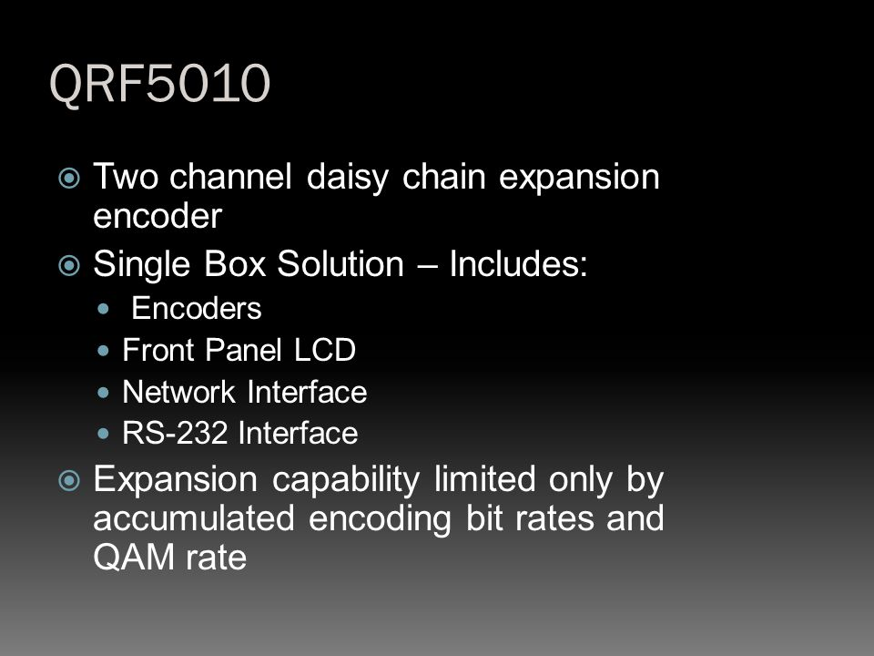QRF5010 Two channel daisy chain expansion encoder