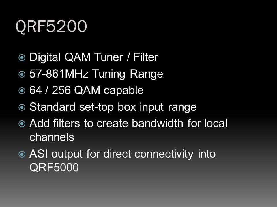 QRF5200 Digital QAM Tuner / Filter 57-861MHz Tuning Range