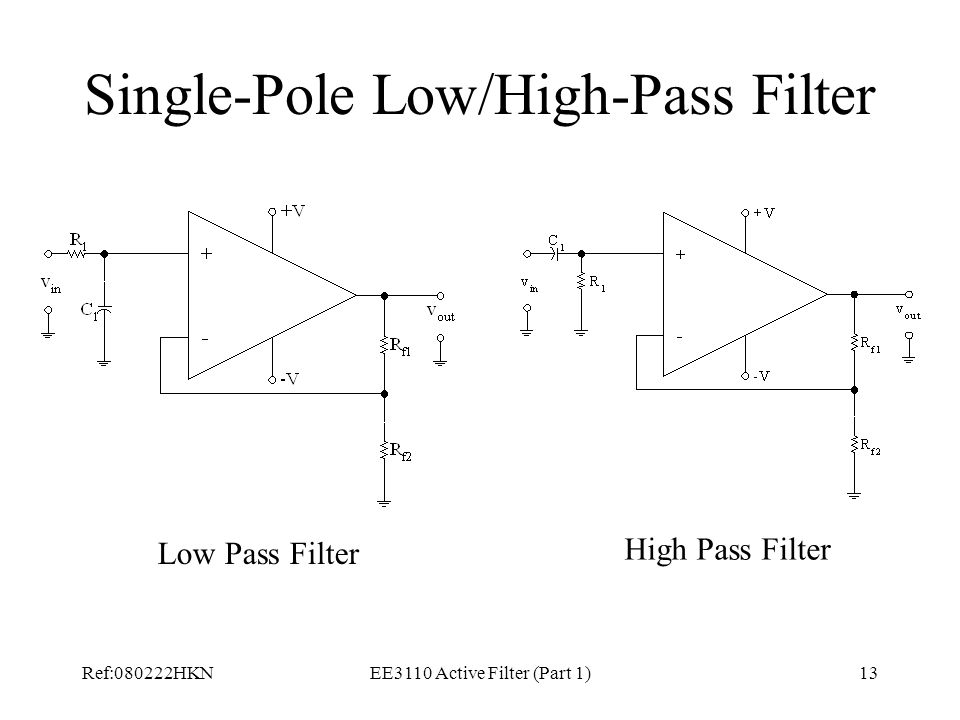 Single-Pole Low/High-Pass Filter