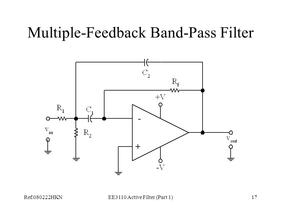 Multiple-Feedback Band-Pass Filter