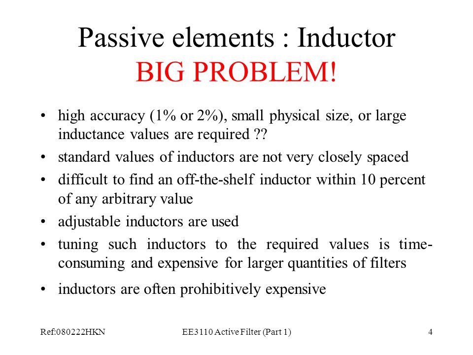 Passive elements : Inductor BIG PROBLEM!
