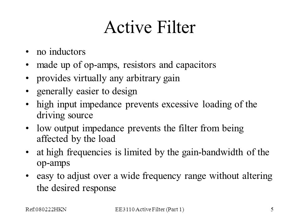 EE3110 Active Filter (Part 1)