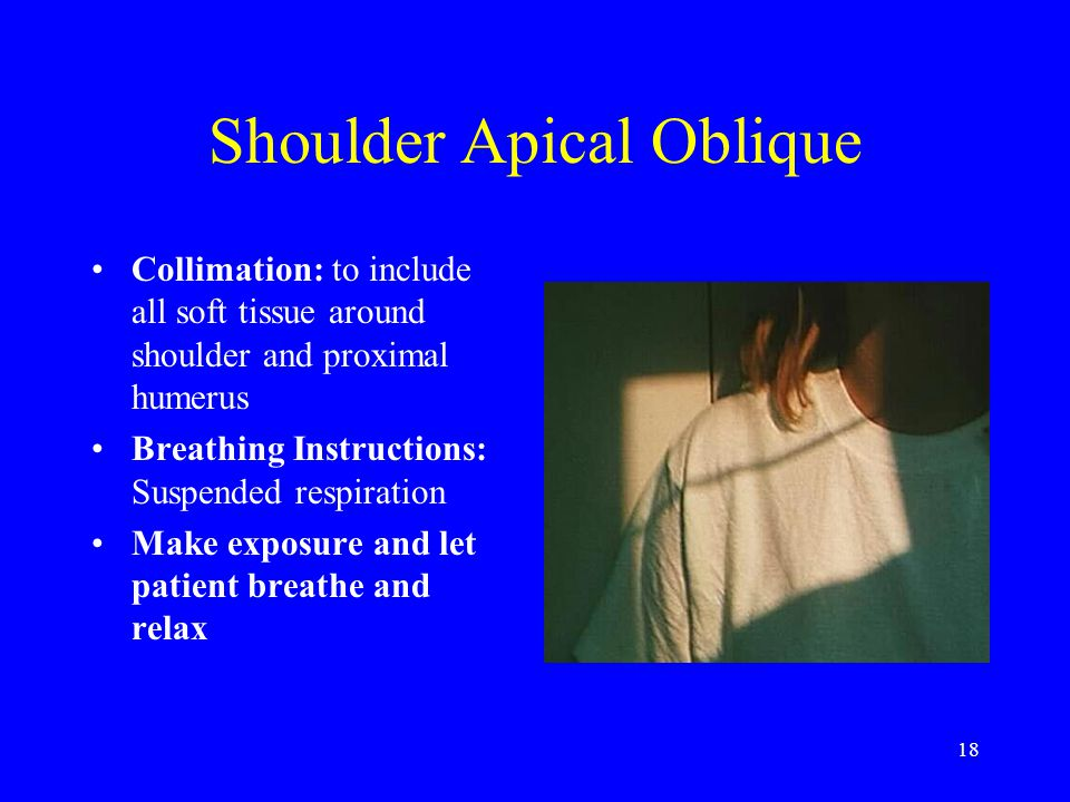 Shoulder Apical Oblique