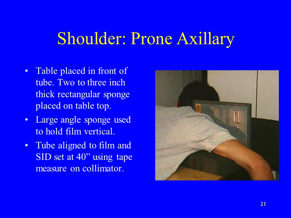 Shoulder: Prone Axillary