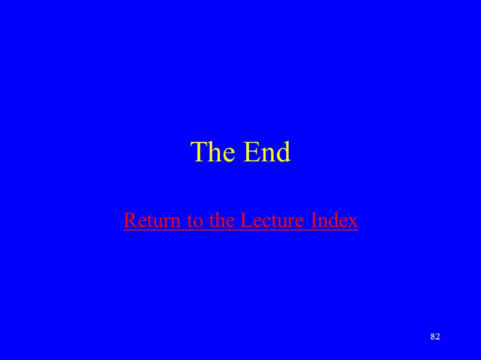Return to the Lecture Index