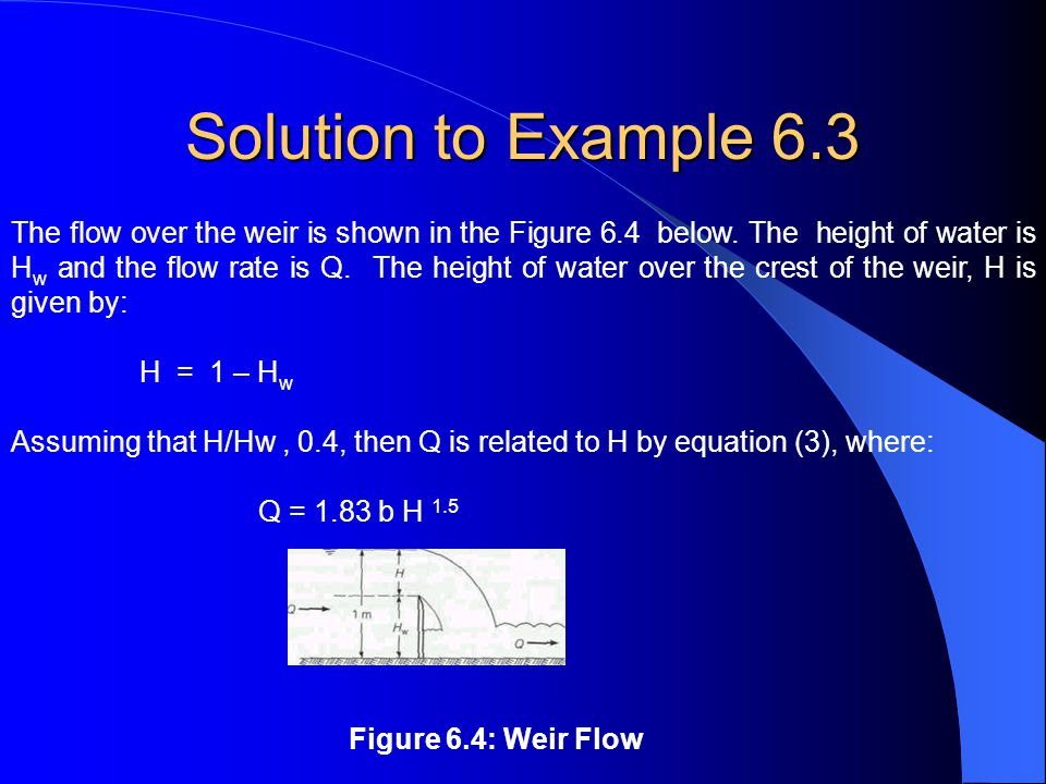 Solution to Example 6.3