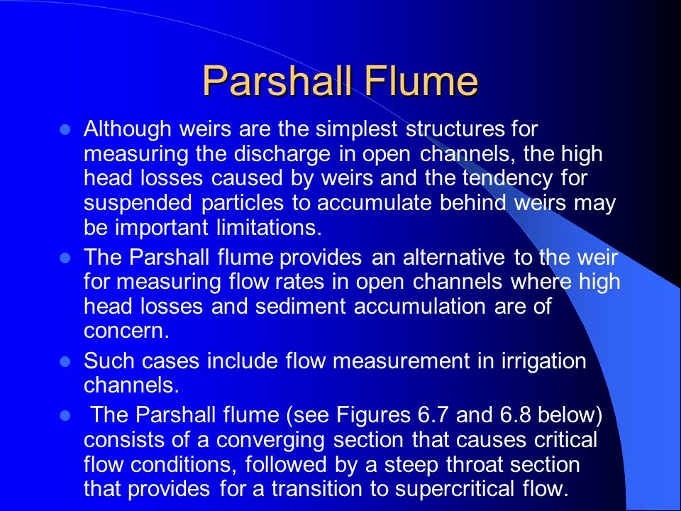 Parshall Flume