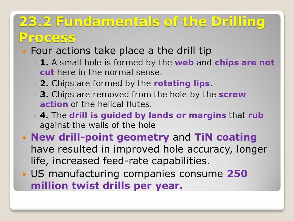 23.2 Fundamentals of the Drilling Process