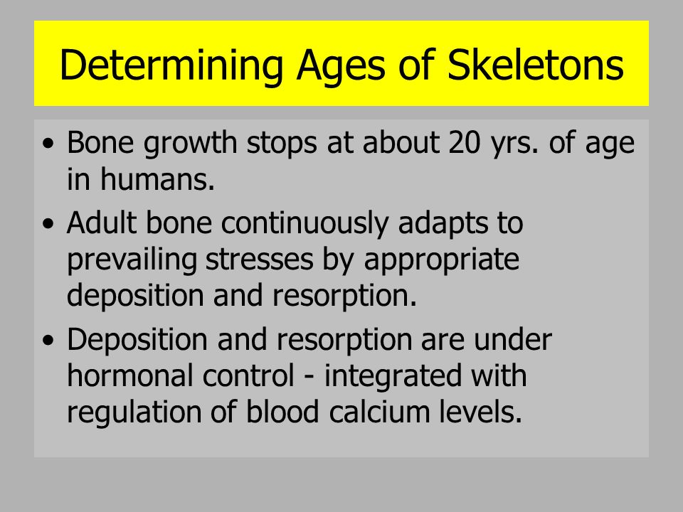 Determining Ages of Skeletons