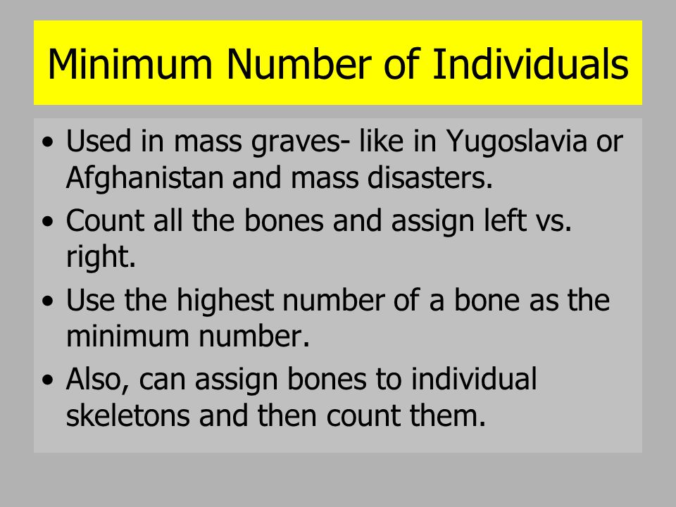 Minimum Number of Individuals