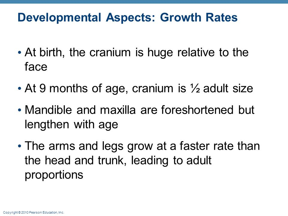 Developmental Aspects: Growth Rates
