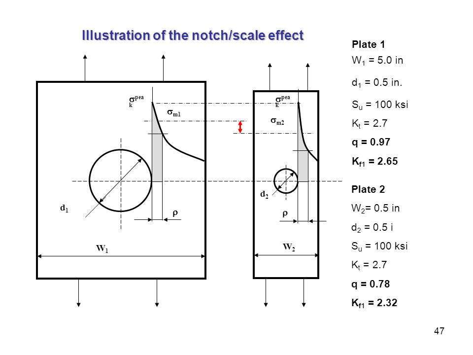 Illustration of the notch/scale effect