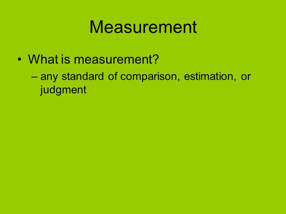 Measurement What is measurement