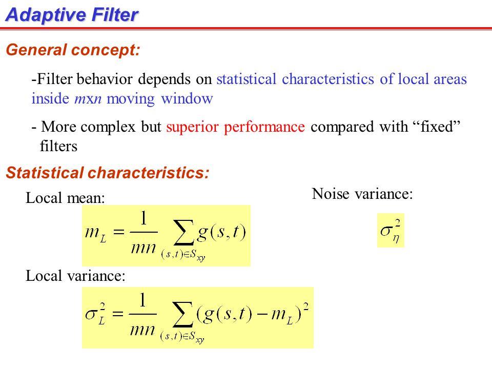 Adaptive Filter General concept: