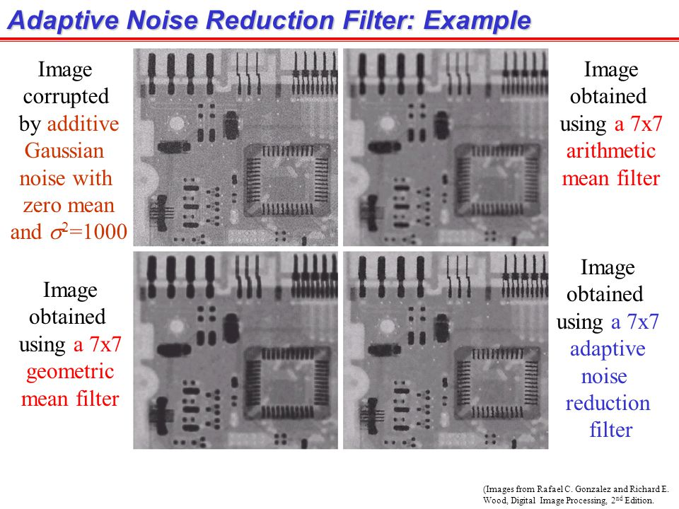 Adaptive Noise Reduction Filter: Example